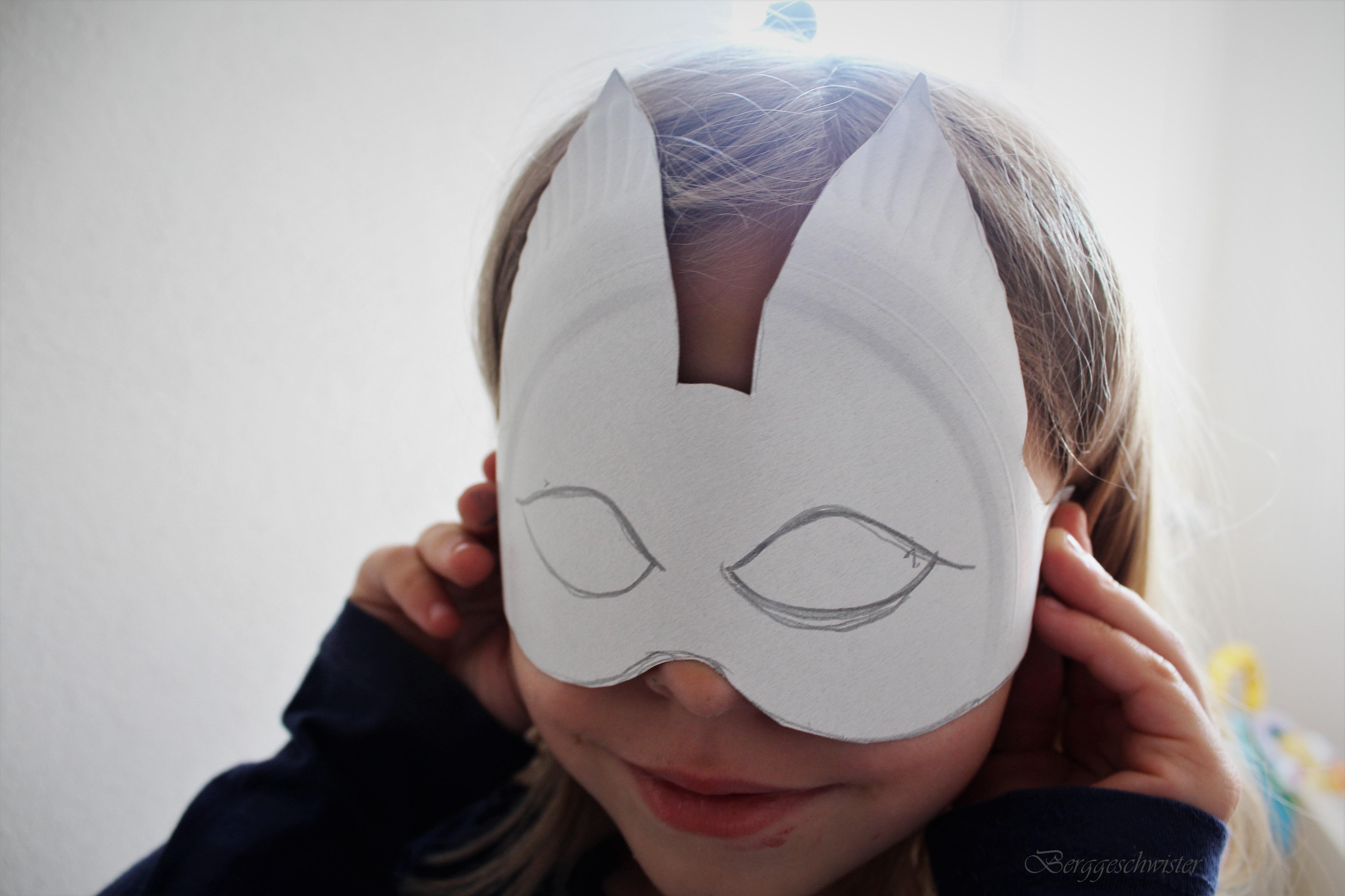 maske vom eigenen gesicht basteln
