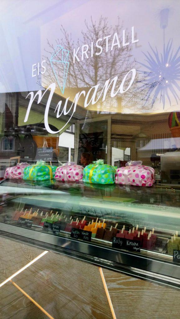 Blick auf Eiskristall Murano in Kempten