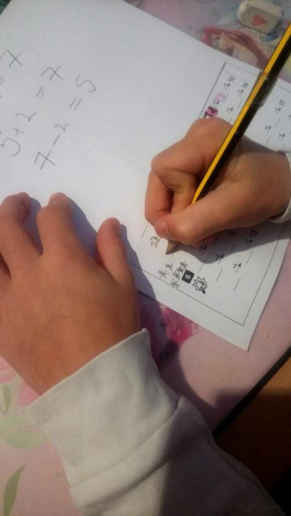 Hausaufgaben in Mathe