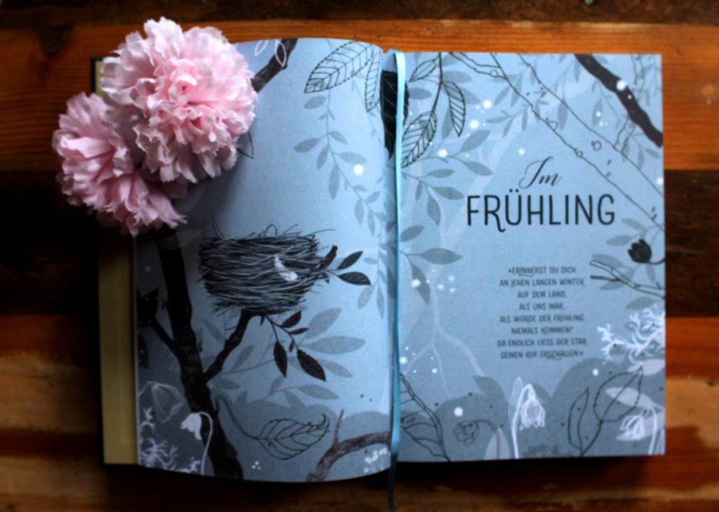 Im Frühling - Seite aus dem Buch Vom magischen Leuchten des Glühwürmchens bei Mitternacht