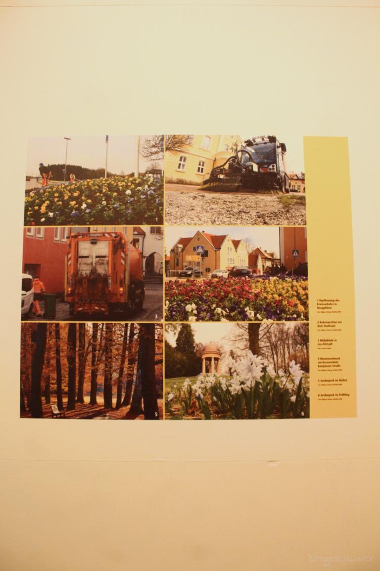 Schautafel zum Haushaltsposten Stadtpflege Kaufbeuren im Stadtmuseum