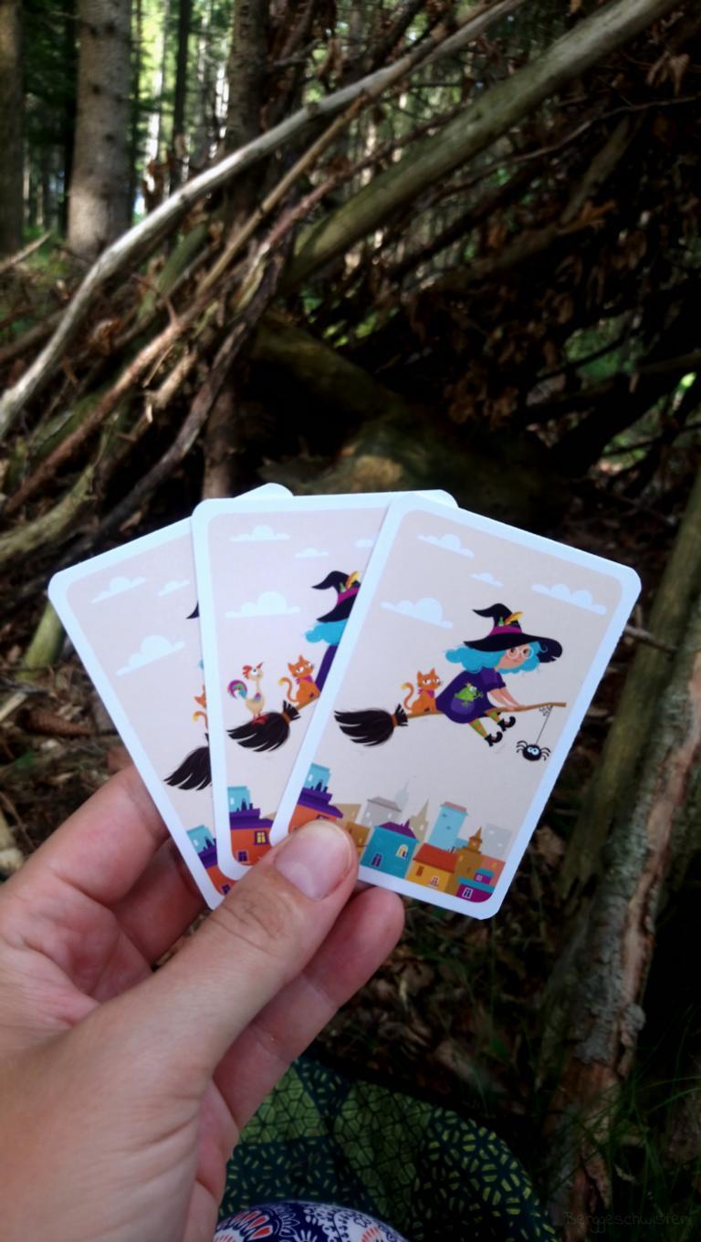 Die Karten des SPiels Hexe, Tier...wer fehlt denn hier?