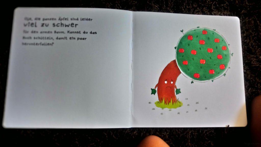 Seite aus Schüttel den Apfelbaum - Ein Mitmachbuch