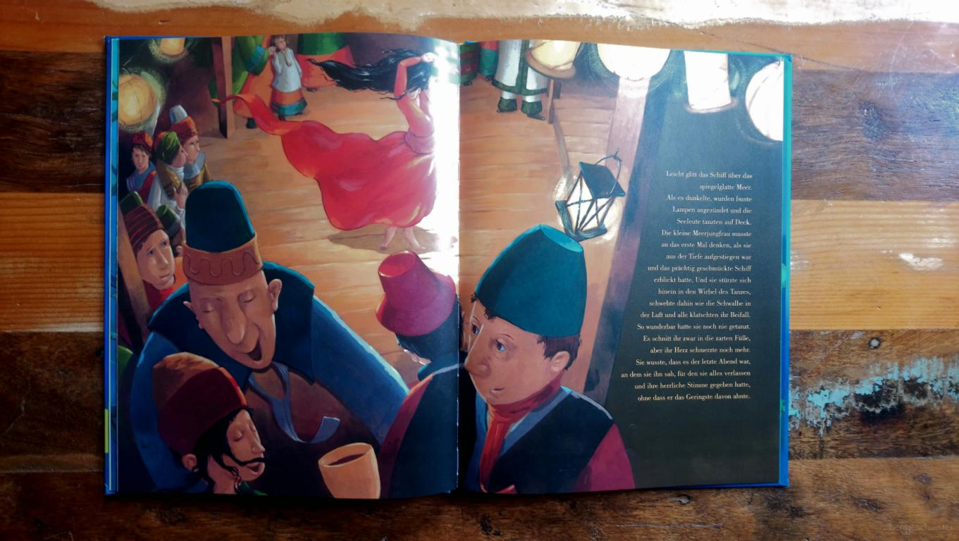Seite aus Die kleine Meerjungfrau von Hans Christian Andersen