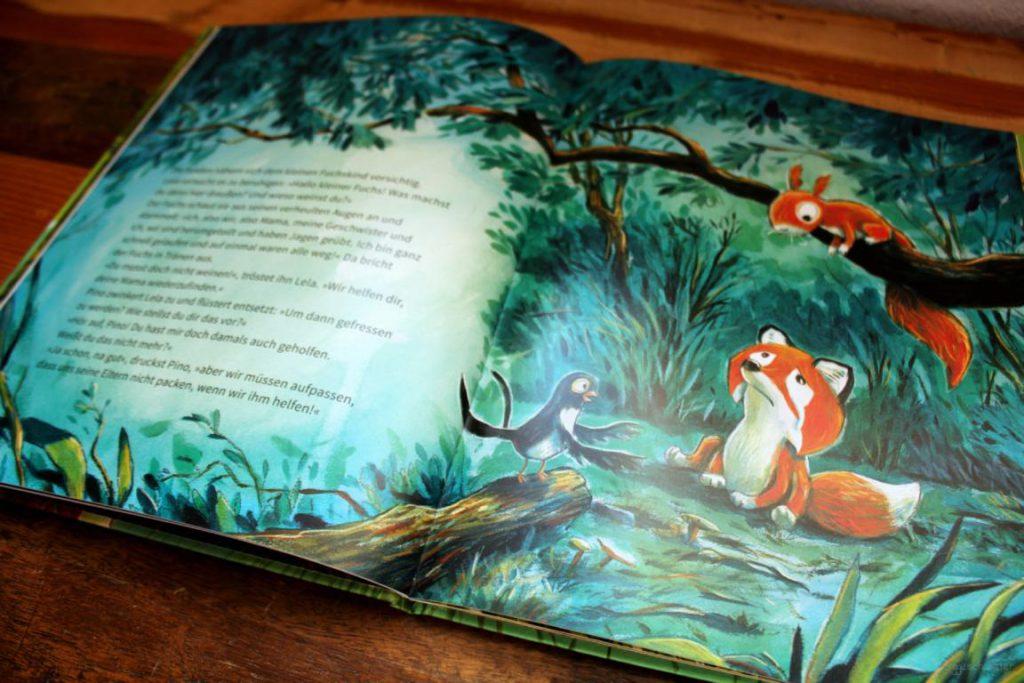 Seite aus Pino Lela und der kleine Fuchs