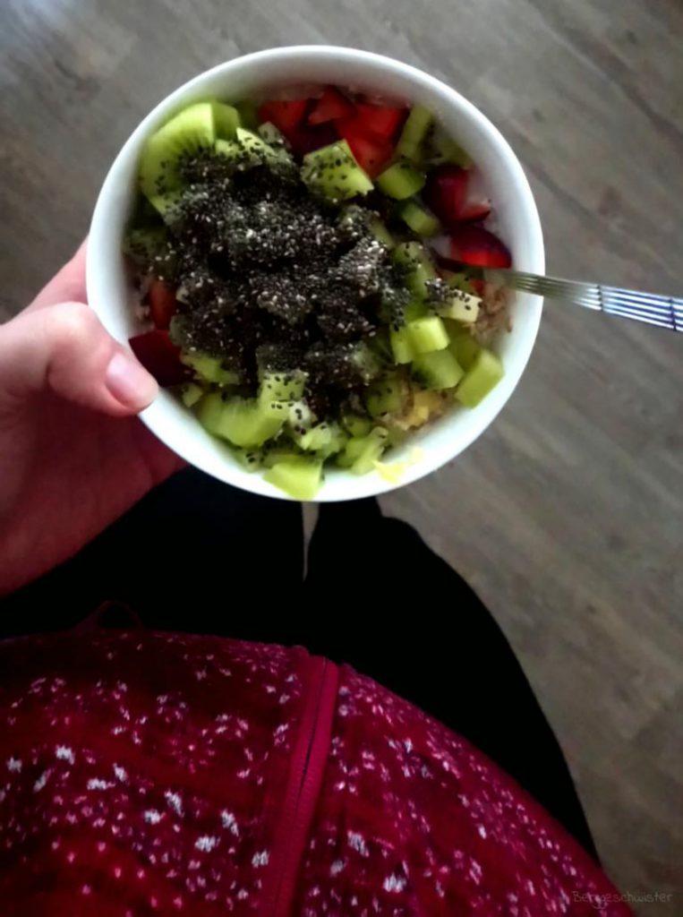 Porridge zum Frühstück