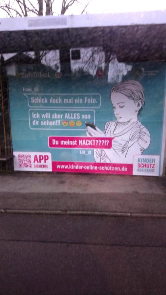Werbeplakat zu Kinderschutz