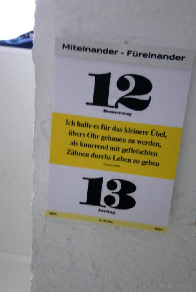Kalender mit Zitat