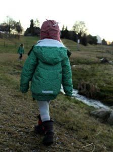 Ducksday Winterjacke Jane mit Reflektoren Unterwegs mit Kindern