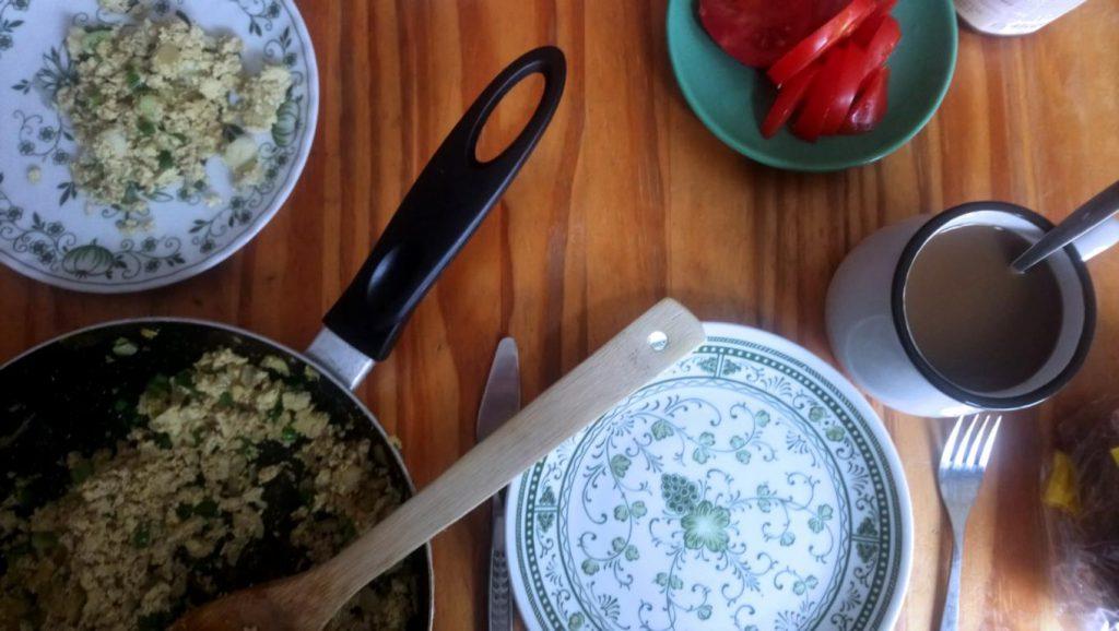 Frühstück mit Tofu Pfanne