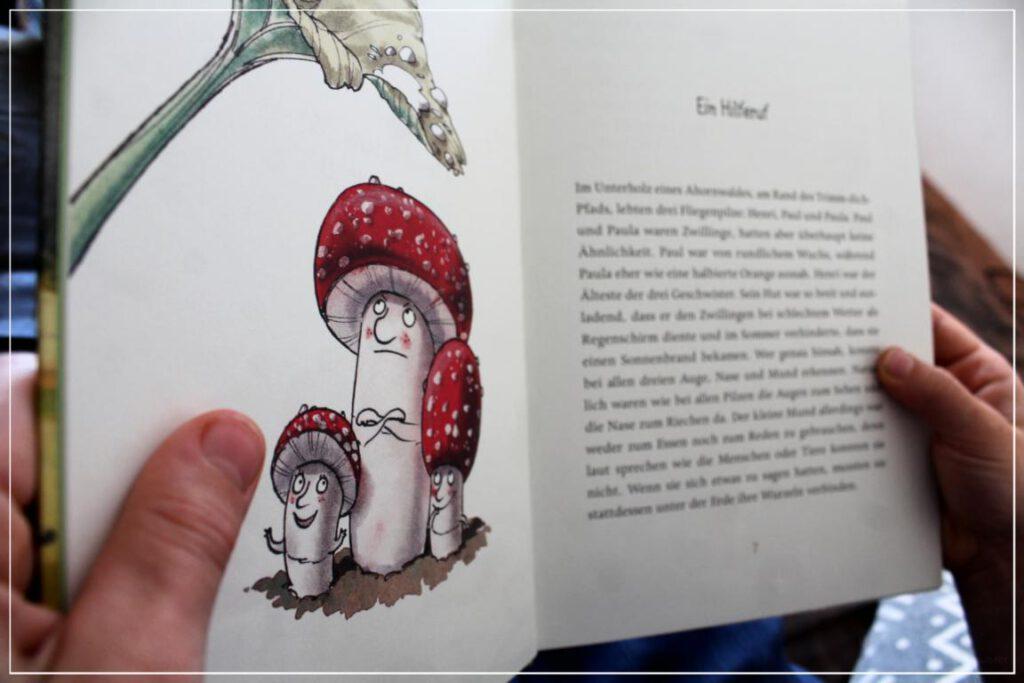 Ein Hilferuf - Kapitel aus  Wie Fliegenpilz Henri das Laufen lernte, um einen Baum zu retten