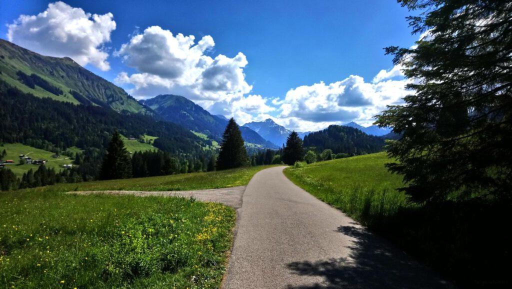 Breitachklamm Schlucht Allgäuer Alpen Weg nach Müllers Alp Wanderweg