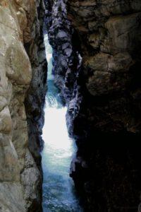 Breitachklamm Schlucht Wege an Felswänden Allgäu Breitach Fluss