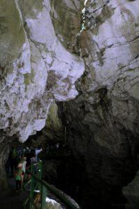 Breitachklamm Schlucht Wege an Felswänden Breitach Fluss eine der größten Schluchten Europas