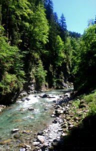 Breitachklamm schlucht bei Oberstdorf Breitach Fluss