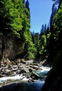 Breitachklamm schlucht bei Oberstdorf Breitach Fluss 2