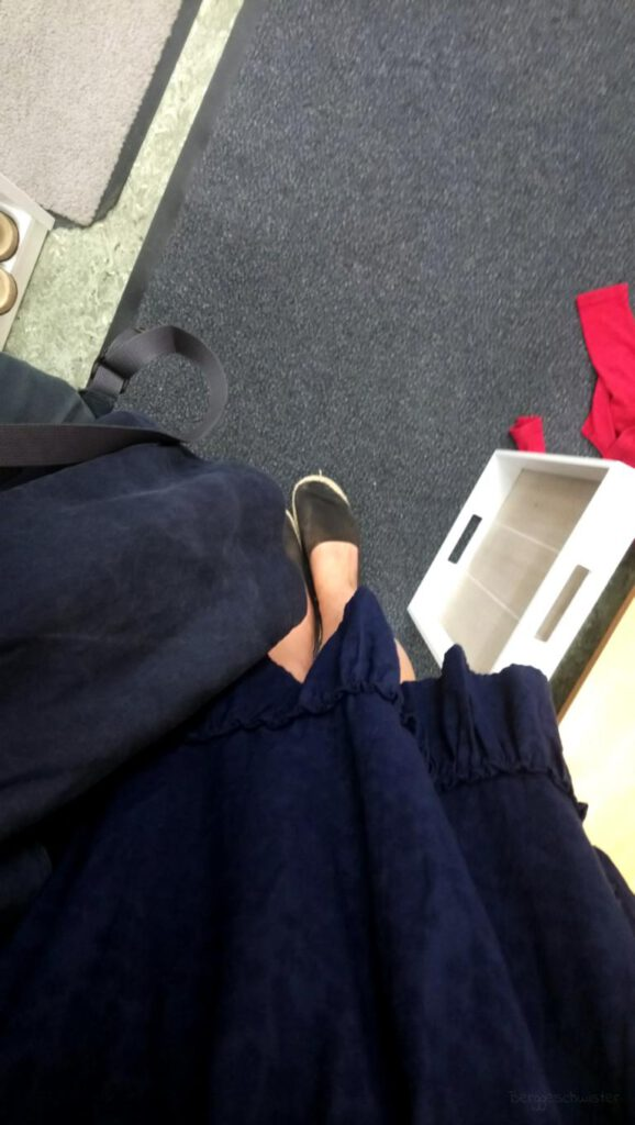 Blick von oben auf die Schuhe