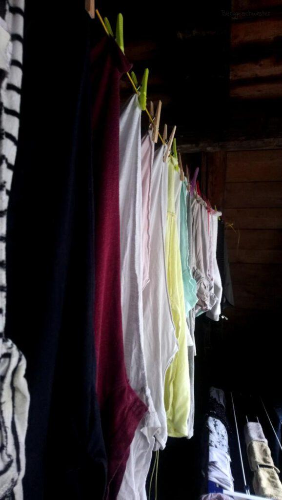 aufgehangene Wäsche