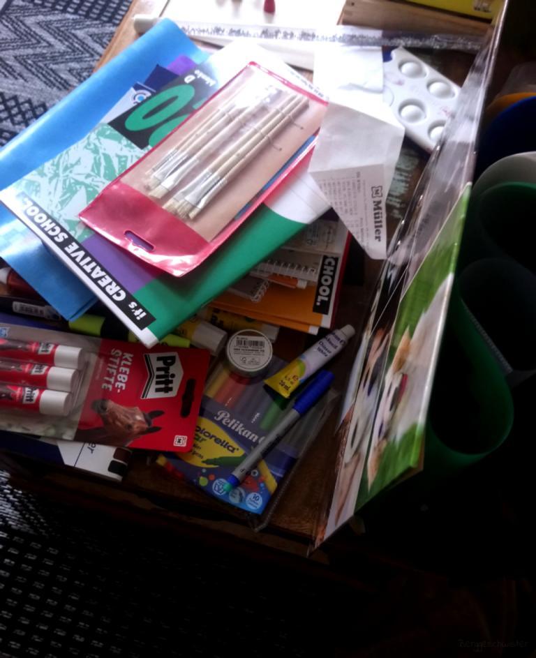 Einkauf von Schulsachen