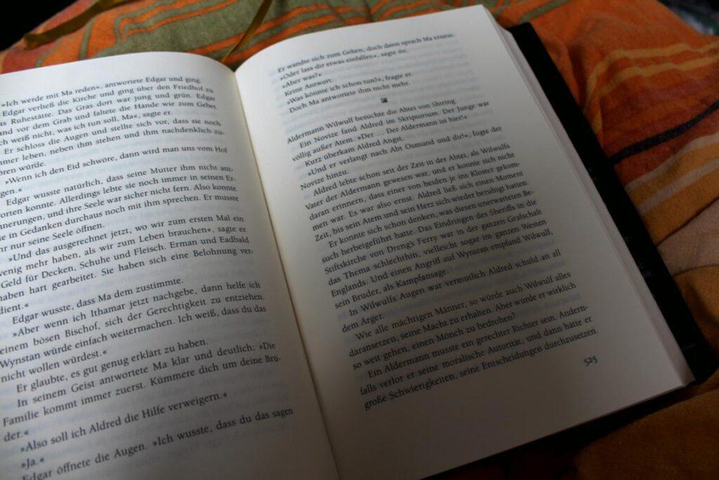 Seite aus einem historischen Roman
