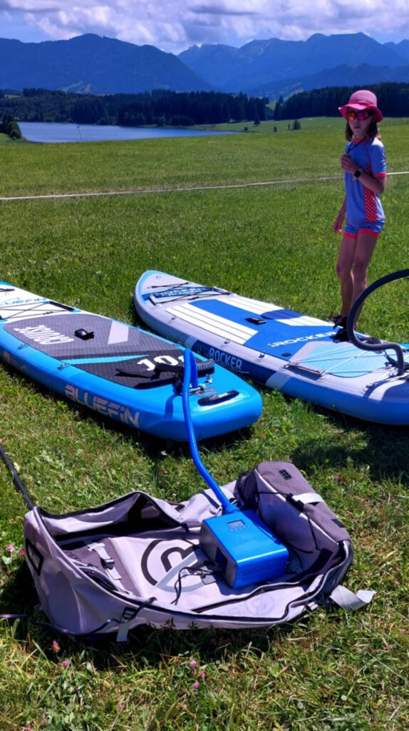 SUP Boards am Forggensee